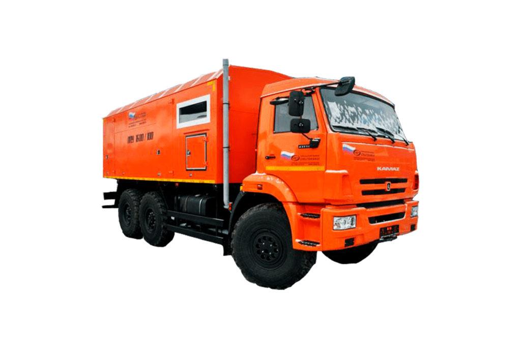 Паропромысловая установка ППУА на шасси КАМАЗ 43118