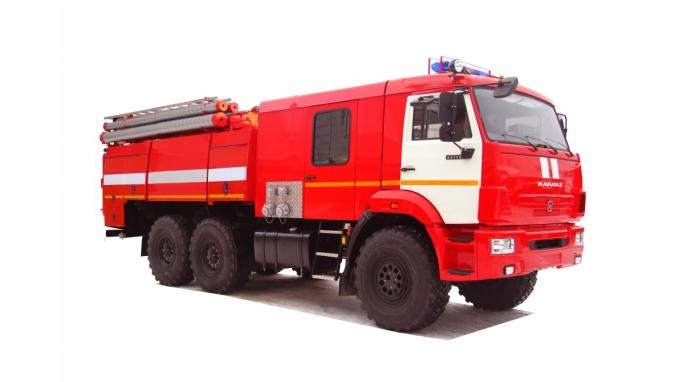 Автоцистерна пожарная АЦ 8,0-40  на базе КАМАЗ-43118 с насосом в кабине