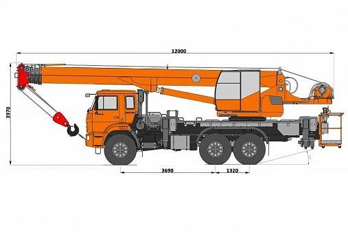 Автомобильный кран ПКС-55713-5К-4В